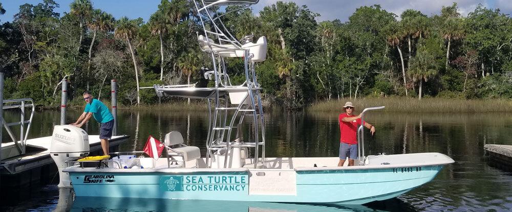 STC Florida en agua Proyecto de Investigación de la tortuga se pone en marcha