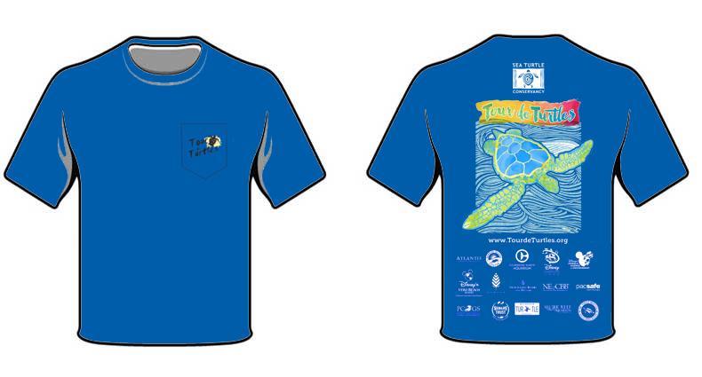 2016 tour de turtles t shirt sea turtle conservancy for Turtle t shirts online