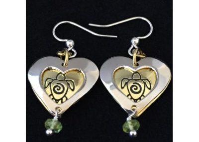 I Love Turtles Peridot Dangle Earrings I Love Turtles Peridot Dangle Earrings