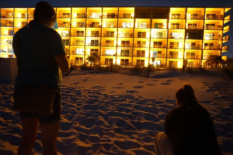 beachfront lighting lighting and dune projects sea turtle conservancy