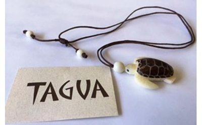 Green Sea Turtle 3D Tagua Nut Necklace